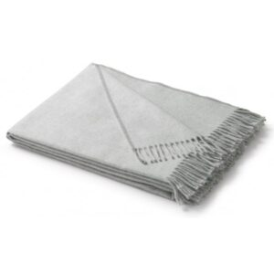 PLAID SILVER PLAIN BLANKET