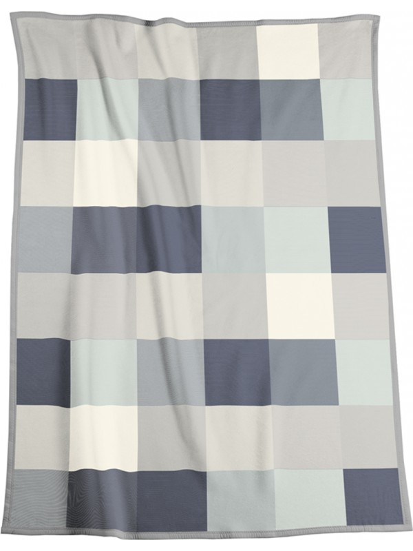 LARGE DENIM CHECK BLANKET