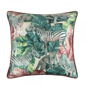 MADAGASCAR BLUSH/TEAL 45X45CM